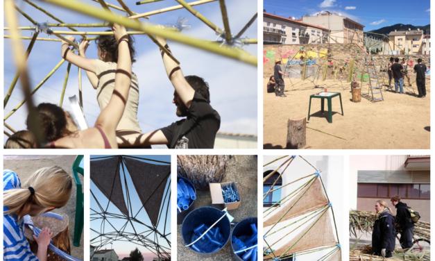 Taller d'estructures ecològiques per fer ombra