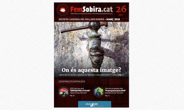 REVISTA FEM SOBIRÀ 26 – MARÇ 2018