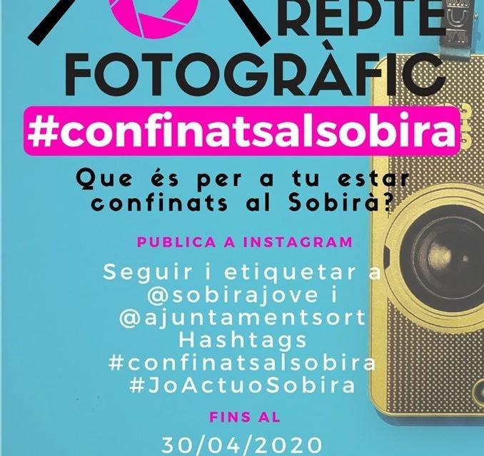 Participa al repte fotogràfic #confinatsalsobirà