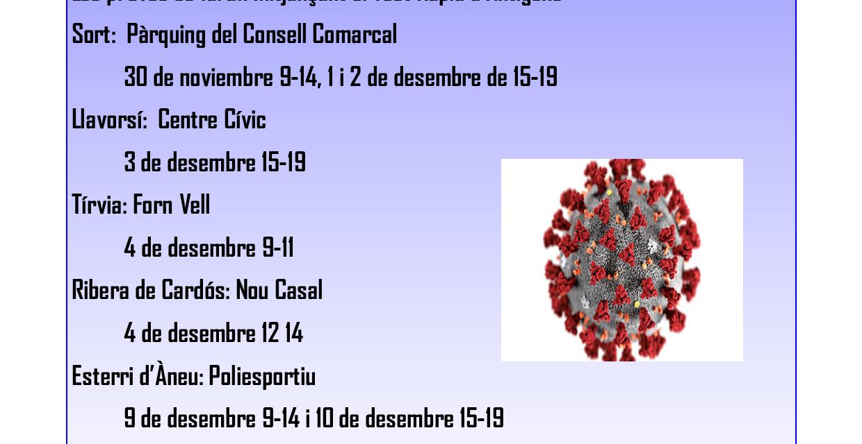 Cribatge poblacional COVID19