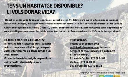 Cens d'habitatges buits i registre de demandants d'habitatge a Vall Cardós
