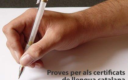 Proves per als certificats de llengua catalana