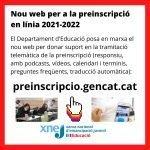Nou web per la preinscripció en línia 2021-2022