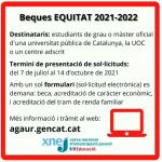 Beca EQUITAT 2021-2022